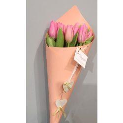 Rózsaszín tulipán csokor