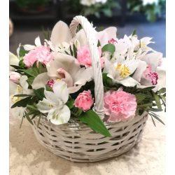 Orchideás virágkosár
