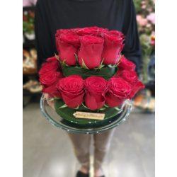 Rózsa virágtorta