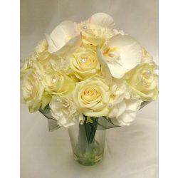 Rózsa orchideával