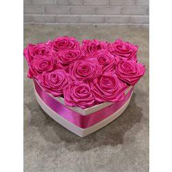Rózsaszín-fehér örökrózsadoboz