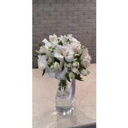 Kis fehér elegancia menyasszonyi csokor