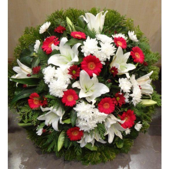 Álló koszorú vegyes virágokból
