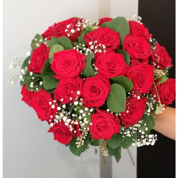 Kerek rózsacsokor