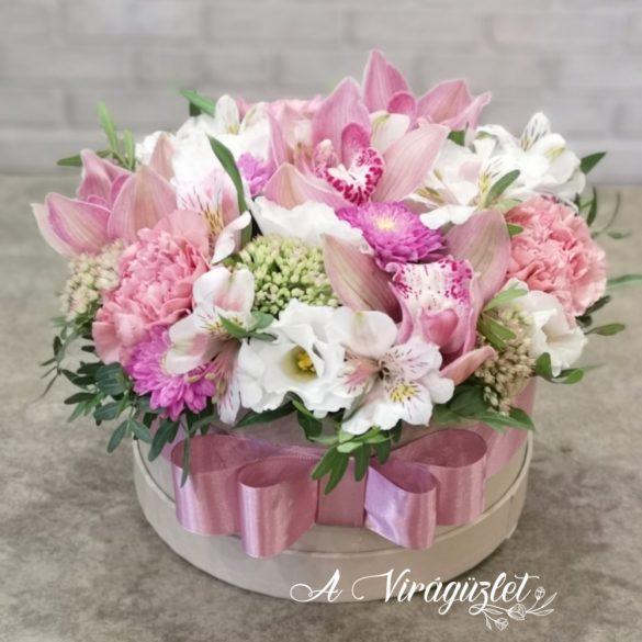 Királynői luxus virágdoboz