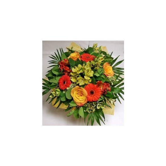 Narancssárga virágcsokor