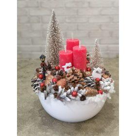 Karácsonyi asztaldíszek