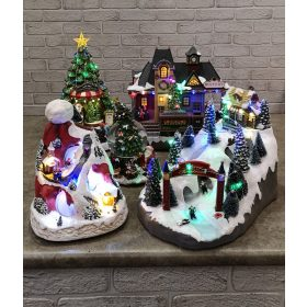 Zenélő, világító, mozgó nosztalgia karácsonyi dekorációk